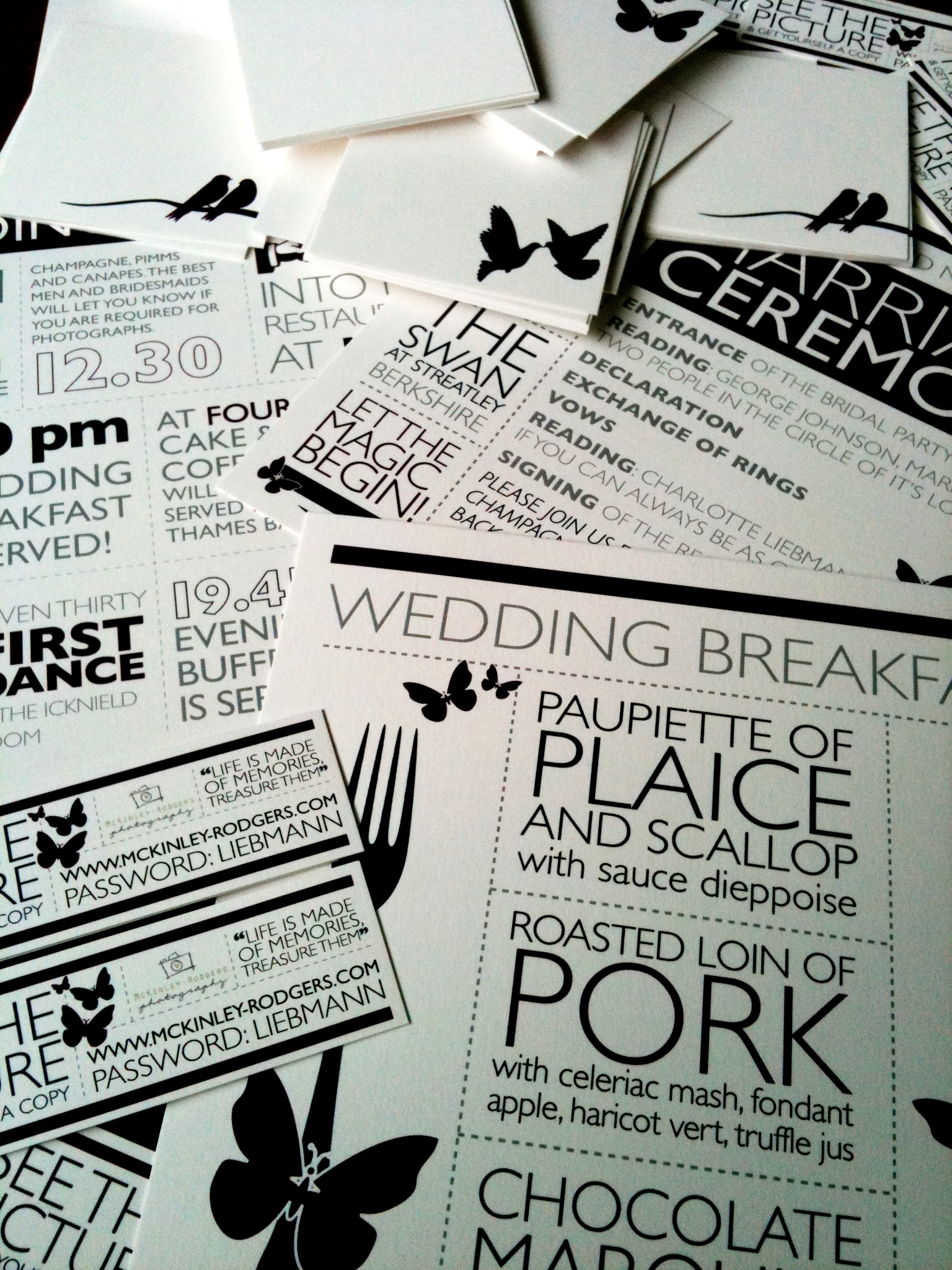 Typographic Wedding Stationery